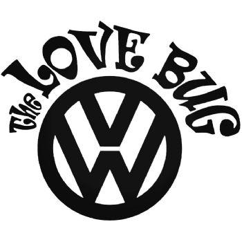 THE LOVE BUG Vinyl Car Sticker VW Van Camper Decal LARGE 241mm x 201mm